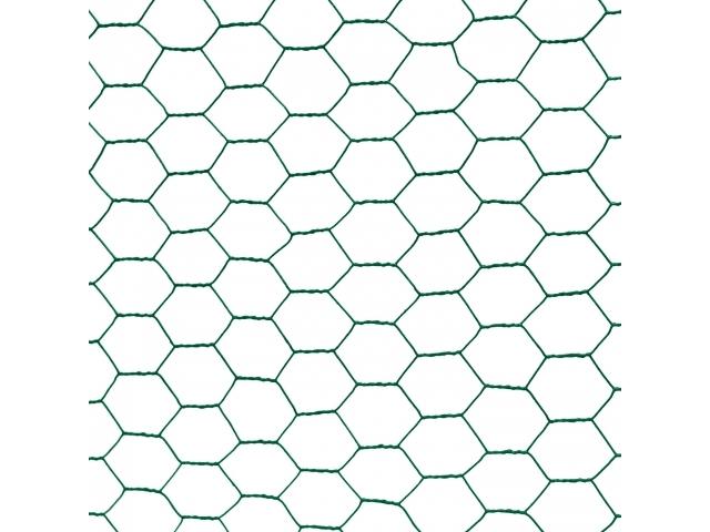 Chovatelské šestihranné pletivo Zn+PVC